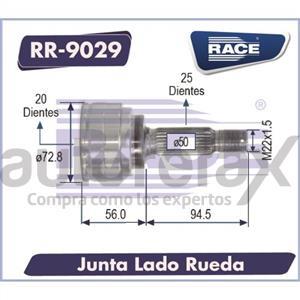 JUNTA HOMOCINETICA RACE - RR9029