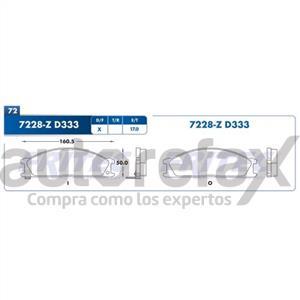 BALATA FRENO DE DISCO FRITEC - SHD7228Z