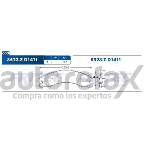 BALATA FRENO DE DISCO FRITEC - SHD8523Z