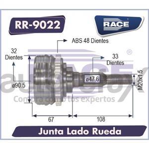 JUNTA HOMOCINETICA RACE - RR9022