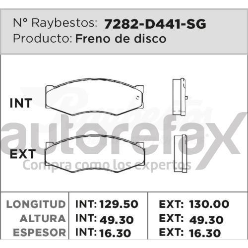 BALATA FRENO DE DISCO RAYBESTOS - 7282D441SG