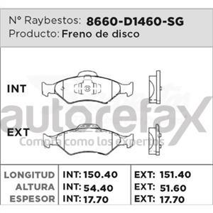 BALATA FRENO DE DISCO RAYBESTOS - 8660D1460SG