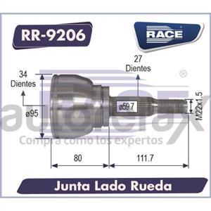 JUNTA HOMOCINETICA RACE - RR9206