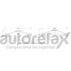 BALATA FRENO DE DISCO REMSA - 8289D1175RMS