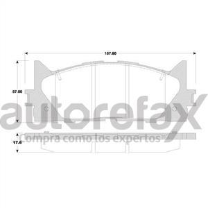 BALATA FRENO DE DISCO REMSA - 8331D1293RMS