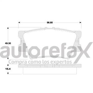 BALATA FRENO DE DISCO REMSA - 8332D1212RMS