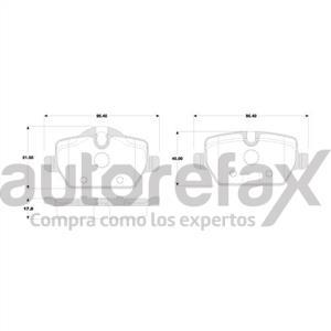 BALATA FRENO DE DISCO REMSA - 8345D1226RMS