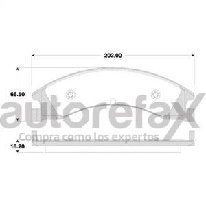 BALATA FRENO DE DISCO REMSA - 8441D1329RMS