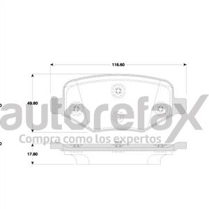 BALATA FRENO DE DISCO REMSA - 8488D1377RMS
