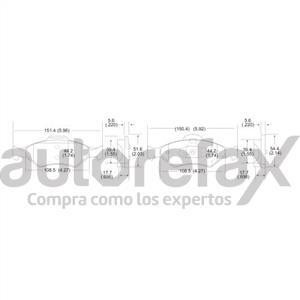 BALATA FRENO DE DISCO REMSA - 8660D1460RMS