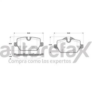 BALATA FRENO DE DISCO REMSA - 8764D1554RMS
