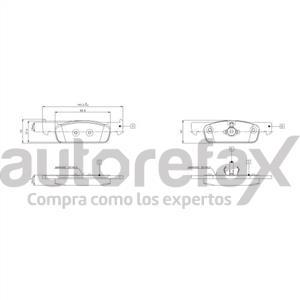 BALATA FRENO DE DISCO REMSA - 9061D1830RMS