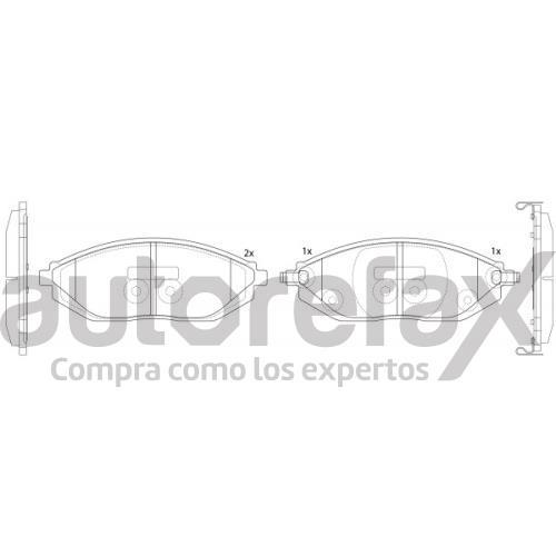 BALATA FRENO DE DISCO RAYBESTOS - 88011590PG