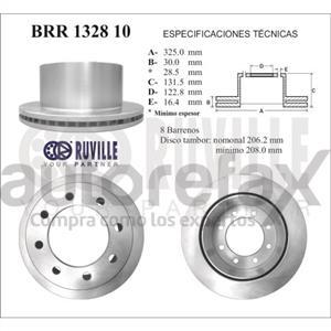 ROTOR FRENO DE DISCO RUVILLE - BRR132810