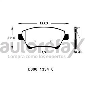 BALATA FRENO DE DISCO RUVILLE - D00013340