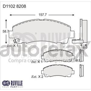 BALATA FRENO DE DISCO RUVILLE - D11028208