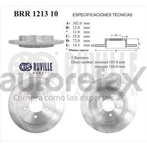 ROTOR FRENO DE DISCO RUVILLE - BRR121310
