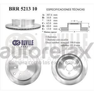 ROTOR FRENO DE DISCO RUVILLE - BRR521310
