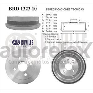 TAMBOR DE FRENOS RUVILLE - BRD132310