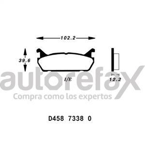 BALATA FRENO DE DISCO RUVILLE - D45873380
