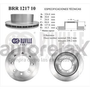 ROTOR FRENO DE DISCO RUVILLE - BRR121710