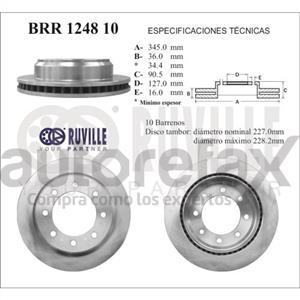 ROTOR FRENO DE DISCO RUVILLE - BRR124810